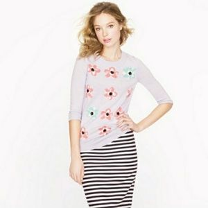 J.Crew Tippy Sweater Graphic Large Floral Print